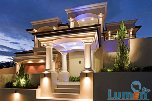 نورپردازی نمای ساختمان
