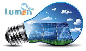 روشنایی با استفاده از پنل خورشیدی