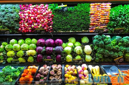 نورپردازی میوه و سبزیجات