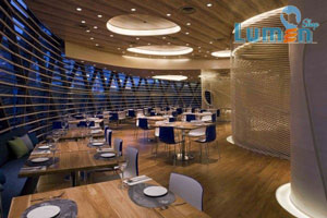نورپردازی رستوران با چراغ توکار