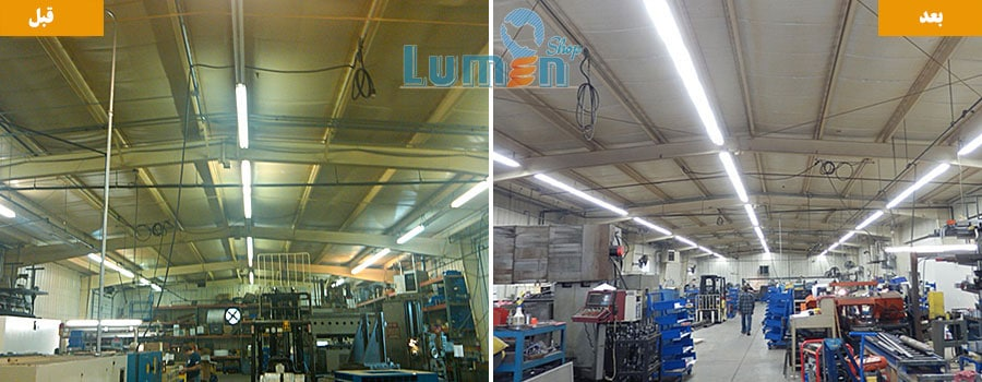 نورپردازی کارخانه با ال ای دی